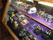gifts, gift case, shot glasses, knives, masks, helmets, bullet
