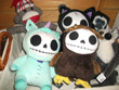 stuffed animals, stuffed, sock monkey, skullies