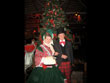 christmas couple, christmas carolers, christmas dress, christmas suit