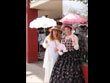 easter, easter dress, parasol, easter costume